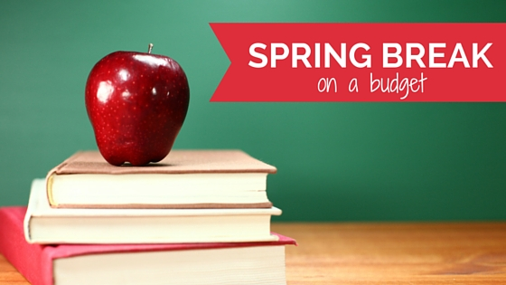spring break image, books, apple